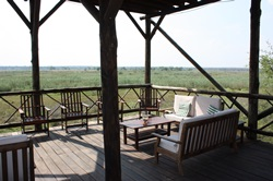 Platform overlooking the swamps at Kwando river