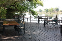 Deck over the Okavango river