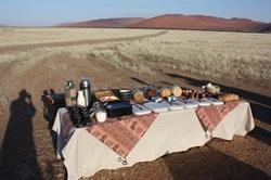Breakfast after hotair ballooning