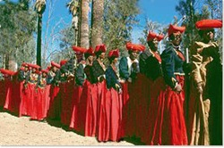 Herero woman in their traditional dress