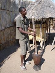 Owambo pounding Mahango