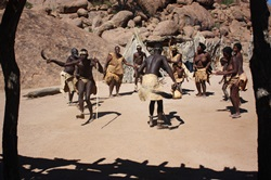 Damara tribe dancing