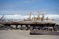 Shipwreck in Skeleton Coast Park